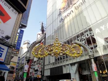 渋谷センター街のバスケットストリートの看板が模様替えされていました