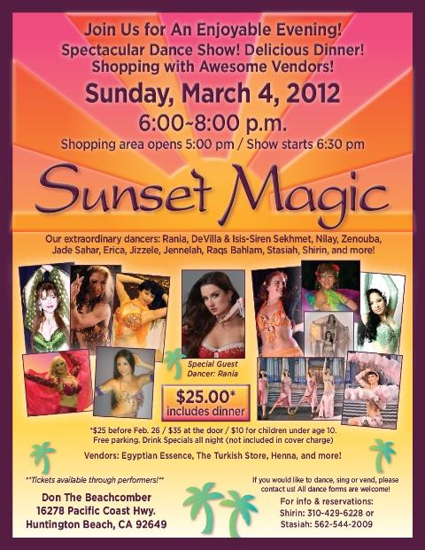 MARCH 4, Sunset Magic Dance Show !