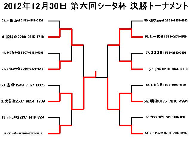 2012年12月30日第六回シータ杯決勝トーナメント