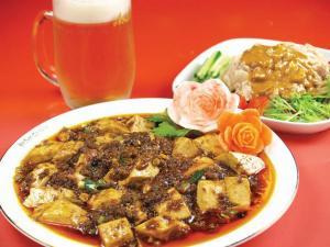 麻婆豆腐,バンバンジー縮小