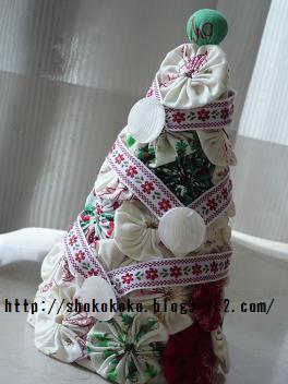 ヨーヨーキルトのクリスマスツリー01