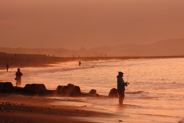 サザンビーチのキス釣り
