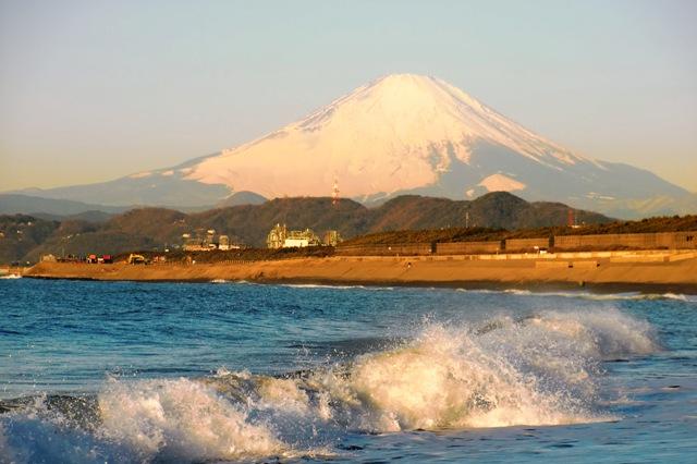 サザンビーチから見た富士山