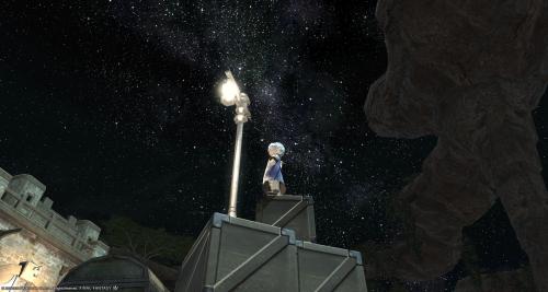 降るような、星空。