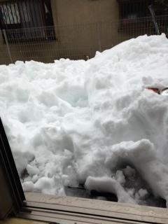 2015.2.15 ウッドデッキ雪