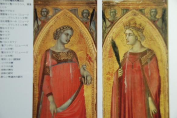 カルミネ会祭壇画アグネスとカタリナ=P・ロレンツレッティ