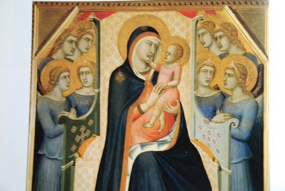 玉座の聖母子・P・ロレンツェッティ=ウフィツィ