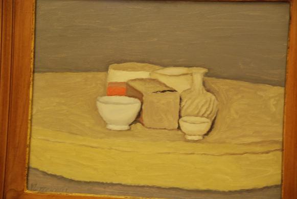 ヴァチカン美術館にあった、「モランディの静物画」