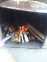 バーナーで着火!!