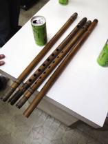 嚮晴 天地籐巻 素竹笛