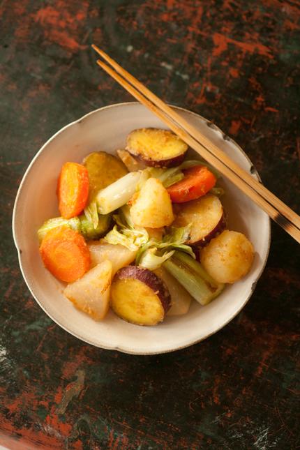 蒸し野菜炒め1