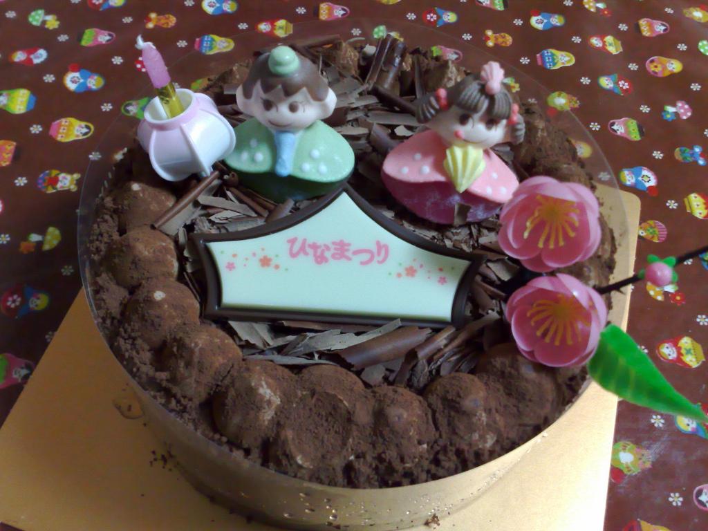 ひな祭りケーキ(2)