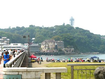 江ノ島橋の途中