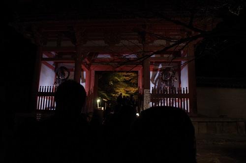 0865醍醐寺西大門ライトアップ