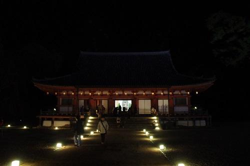 0887醍醐寺金堂ライトアップ