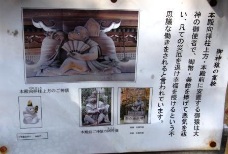 本殿の猿_H25.12.10撮影