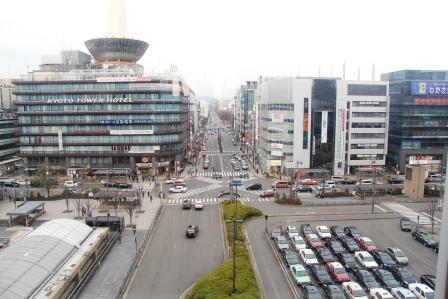京都駅ビルから見た風景(北側)_H26.02.09撮影