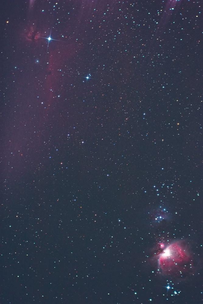 燃える木(NGC2024) 馬頭星雲(IC434) オリオン大星雲(M42)