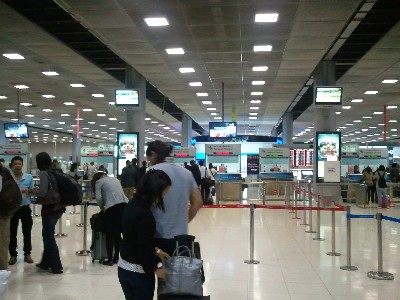 タイ旅行 スワンナプーム空港写真