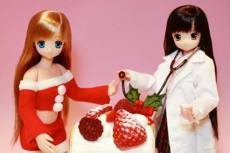 リセとサアラさんのイブ(Xmasケーキ)