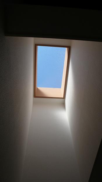 リビングには光が差し込む天窓付きです!