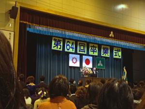 高校の卒業式