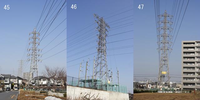 東大和線45、46、47号鉄塔