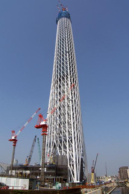 東京スカイツリー建設中
