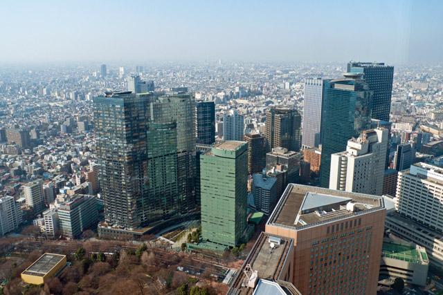 東京都庁展望台からの眺め