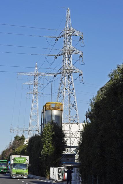 旭ヶ丘線34号鉄塔と35号鉄塔
