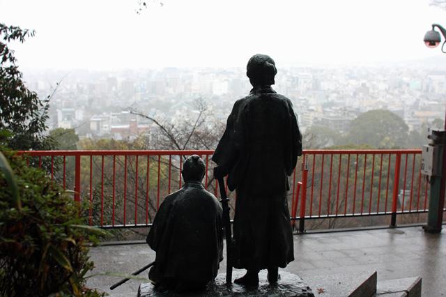 龍馬と慎太郎の銅像