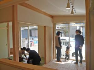 鎌ヶ谷市 完成見学会の様子