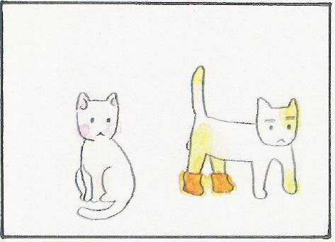 猫まんが たまともんちゃん-kutsusita1