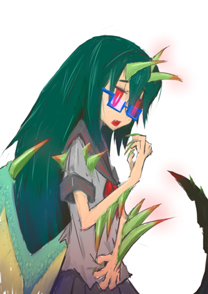 メガネ竜少女