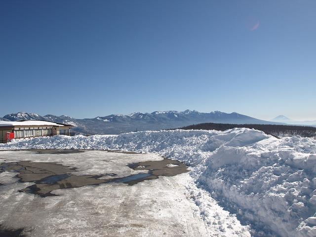 20140127富士見台茶屋の雪景色 (1)