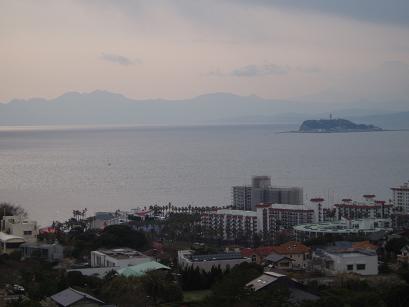 伊豆半島と江ノ島