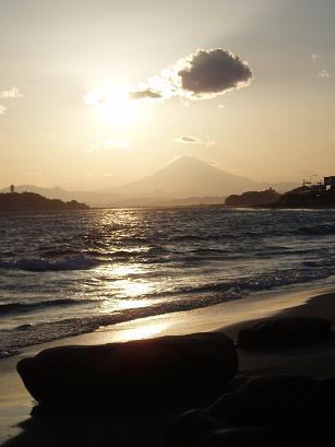 富士の夕日