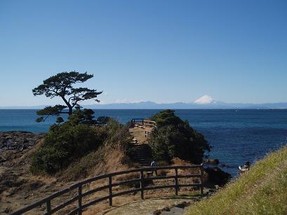 立石公園と富士山