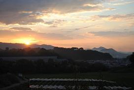 大和の夕日