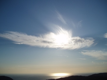 雲に乗った太陽