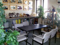 事務所の動物造形