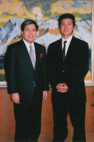 熊本知事と社長