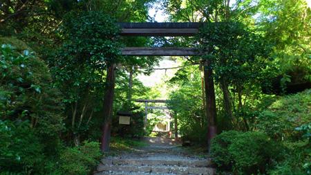 金時神社の鳥居