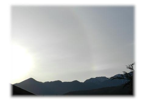 11.27 駒ケ岳SAより 日輪と中央アルプス