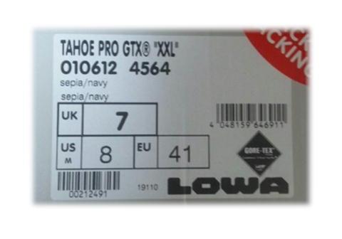 12.11 LOWA TAHOE PRO GTX