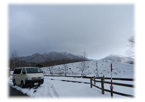 12.18 蒜山高原は雪です。