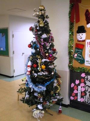 クリスマスツリーがお出迎え