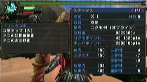 楽園×ガチ双剣(20分37秒)ステータス