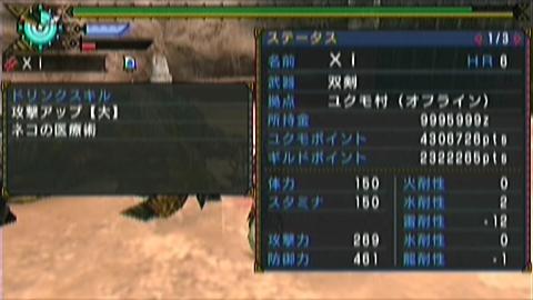 風雷神×ガチ双剣(11分35秒)ステータス