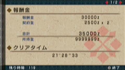 凍番長×ガチ双剣(21分29秒)正式タイム